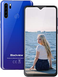 Blackview A80 Pro-6.49 inches Smartphone, 4GB RAM+64G ROM Unlocked Cell Phone with Quad Camera 13MP, 4680mAh Battery, 4G Global Version Dual SIM Phone, Fingerprint, Face ID - Blue