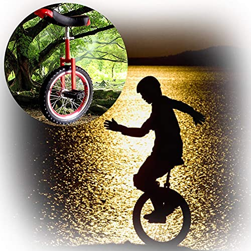 Einrad, Robuster Rahmen Aus Manganstahl 16/18/20/24 Zoll Einrad for Erwachsene Kinder M?nner Teenager Jungen Reiter, Berg Im Freien (Color : Red, Size : 18 inches)