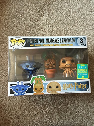 Funko POP! Harry Potter: Cornish Pixie + Mandragora + Grindylow