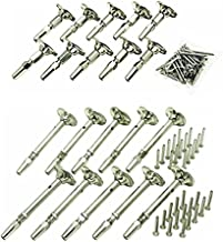 Atlantis Rail Easy System Swivel Terminating End / Turnbuckle (10 Pack) and Cable Tensioner-Flat (10 Pack) for Cable Railing