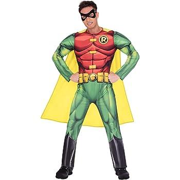 Adult Licensed Batman Movie Classic Robin Boy Wonder Mens Fancy dress Costume