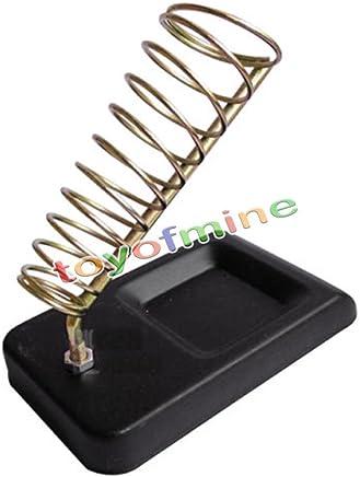 Titular OurLeeme desmontable metal de soldadura del arma del hierro soporte de la base de apoyo Estaci/ón