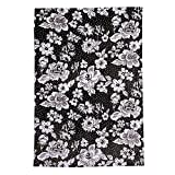 Vera Bradley Collegiate Plush XL Throw Blanket (Multiple Teams Available), Purdue University Black/White Rain Garden