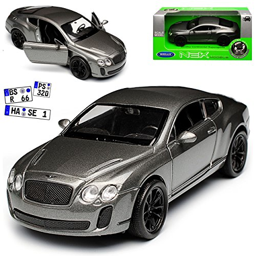 mächtig der welt Welly Bentley Continental GT Supersportcoupé Grau ca1 / 43 1 / 36-1 / 46