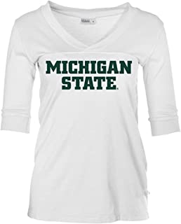 Official NCAA Michigan State University Spartans MSU Sparty Womens Football V-Neck