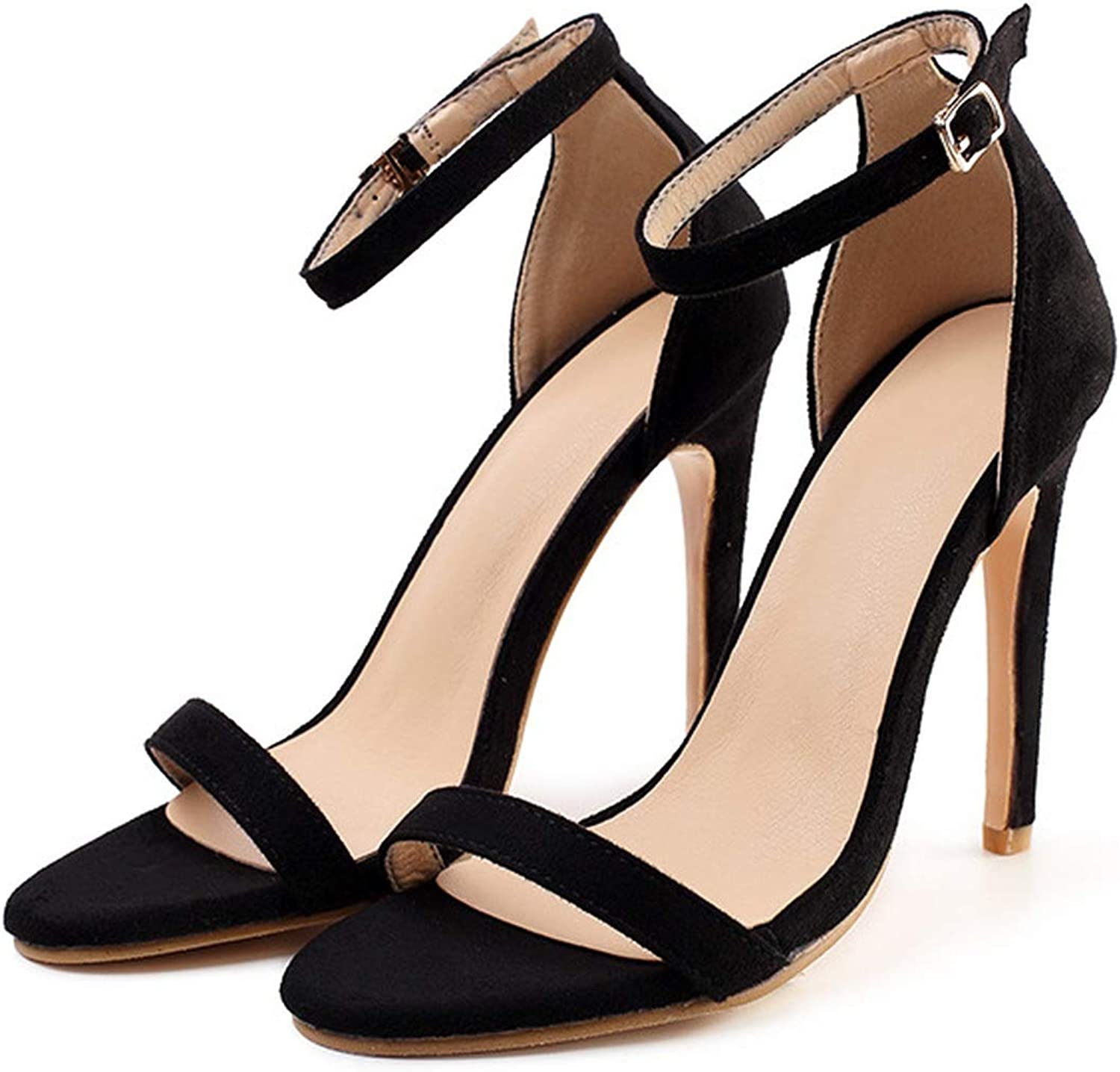 High Heel Sandals Fish Head Open-Toed Sandals Sexy shoes shoes Sandals with Buckle Wedding shoes