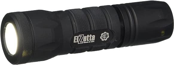Elzetta A113 Alpha 1-Cell Flashlight with Standard Bezel Ring, Standard Lens, High/Low Tailcap