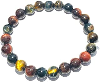 crystalmiracle TIGERS EYE RED BLUE BROWN BRACELET CRYSTAL HEALING MEN WOMEN GIFT FASHION JEWELRY PROTECTIVE GEMSTONE MEDIT...