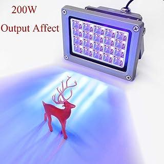 Vogvigo UV Resina Lámpara,Luz de Curado de Resina UV de 405 nm para SLA/DLP/Impresora 3D,Adecuado para Curado UV, Catálisis Fotoquímica, Terapia Médica, Pantalla LCD de Teléfono Móvil (20W)