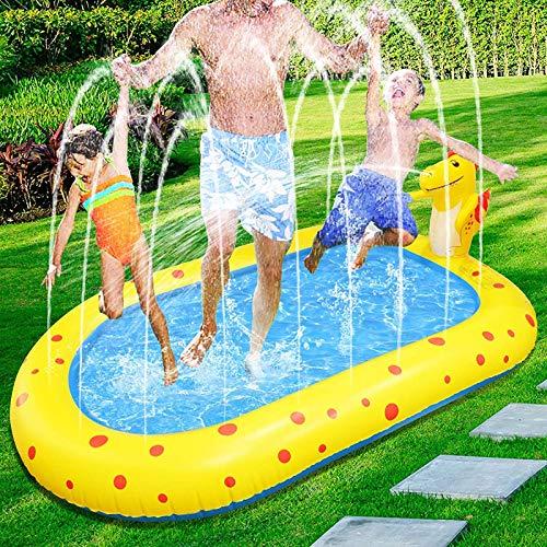 EEUK Aspersor de Juegos de Agua, Juego de Salpicaduras y Salpicaduras, Piscina para Niños, Juguetes Inflables de Agua para Niños, Bebés y Niños Pequeños