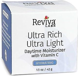 Reviva Labs Ultra Rich Ultra Light Daytime Moisturizer w/Vitamin C,1.5 oz