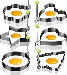 6X Egg Mold Egg Shaper Egg Ring Pancake Molds Egg Mould Stainless Steel Mold Cooking Kitchen Tools