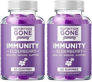[NEW] Nutrition Gone Gummy Elderberry Gummies – Natural Gluten-Free Real Fruit Gummies with Vitamin C and Zinc Supplement ...