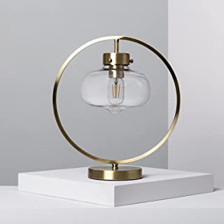 LEDKIA LIGHTING Lampe à Poser Kampir 395x350x200 mm Doré E27 Métal - Verre pour Décoration Salon, Chambre, Cuisine