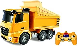 Bo-Toys Mercedes Benz Arocs Heavy Construction Dump Truck Remote Control 1:26 w/ Lights Sound