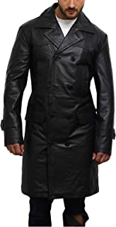 Men's Genuine Cow Hide Leather Kriegsmarine German DR WHO WW2 UBoat Captains Reefer Jacket Coat