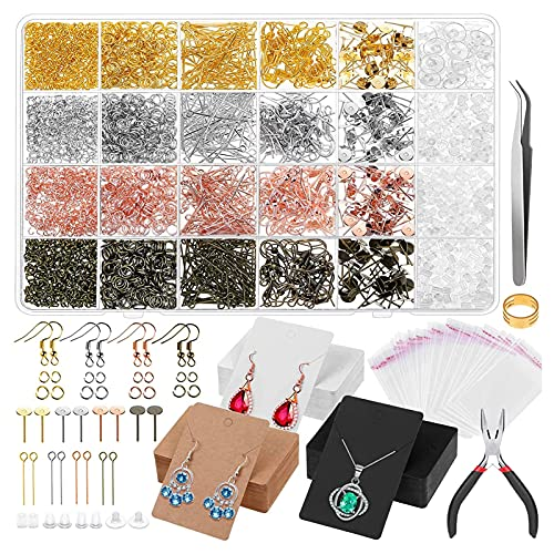 Tarjeta de exhibición de orejas, kit de fabricación de orejas de bricolaje duradero, fácil embalaje para joyas para aretes para collares para hacer pulseras