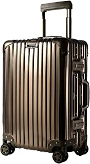 GLJJQMY Trolley Case Aluminum Trolley Case Aluminum Suitcase Universal Wheel Aluminum Frame Suitcase Trolley case (Color : Titanium Gold, Size : 24 inches)