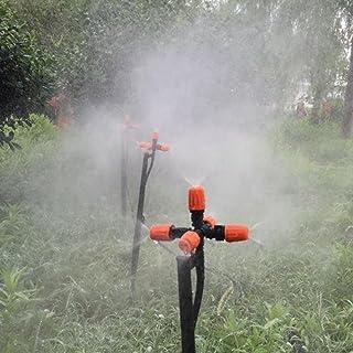 JannahMehr Automatic Sprinkler 5 Heads Adjustable Fog Mist Nozzle Spray Greenhouse Adapter - 1#