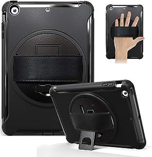 【A9H】iPad Mini1/ Mini2/Mini3 ケース 360自由回転可能 三層構造 耐衝撃 防塵 丈夫 頑丈 片手 傷つけ 落下防止 ハード アイパッド ミニ 1/2/3カバー両用タッチペン(ブラック)