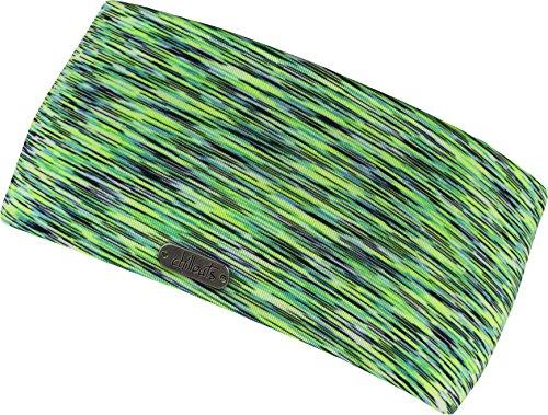 FEINZWIRN Damen Kopfband Haarband in vielen Farben für Sport und Freizeit doppellagig (Neonyellow-Green)
