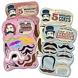 Mr. Moustachio Facial Hair Four Pack: Top Ten Manliest, Girliest, Gnarliest, and Meatiest Facial Hair, Beard, and Mustache Assortment!