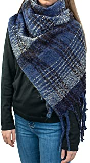 Miss Lulu Winter Scarf Shawl Wrap for Women Tassel Long Large Warm Thick Reversible Scarves