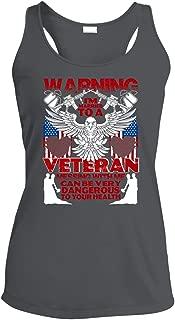 Very Dangerous Moisture Wicking Tank Top, Married to A Veteran T Shirt