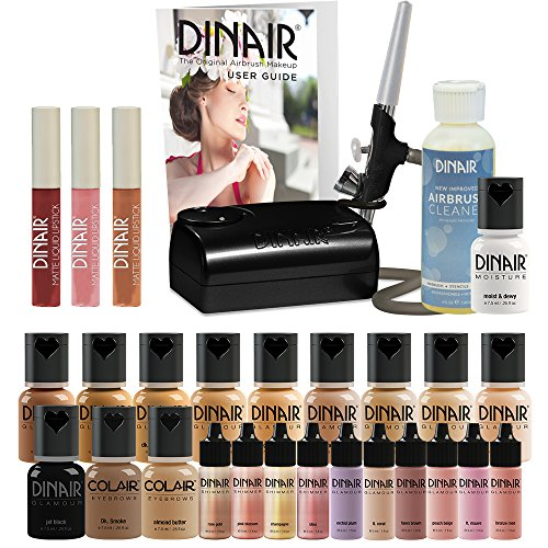 Dinair Airbrush Makeup Starter Kit, Double Shade Range - Fair to...