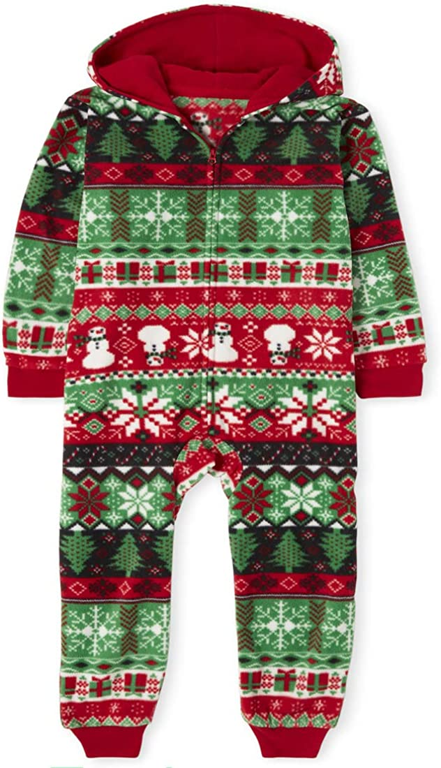 The Children's Place Baby Boys' Holiday One Piece Sleeper