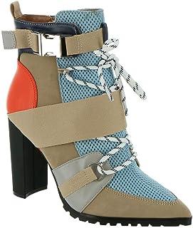 Steve Madden Women's Illusion Ankle Boot, Blue Multi, 6.5