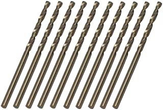 Autoly Dia 2.5mm HSS Cobalt Metric Twist Drill Bit Set M35 Metal Straight Shank Electrical Drill Bit,Pack of 10