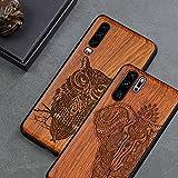 S'applique à la coque de téléphone en bois pour Huawei P30 Lite P40 P30 P20 Pro - Coque de luxe...