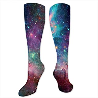 YudoHong Pfauenfeder hohe Tube Socken Unisex Sport Socke Strumpfhose Kniestrumpf