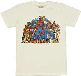 vs Capcom Group Stance Mens T-Shirt White
