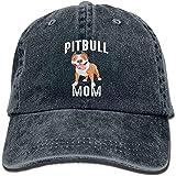 GHKFKMJ Unisex Trucker Cap, Arsmt Pitbull Mom Denim Hat Adjustable Men's Dad Baseball Hats