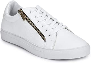 TRUFFLE COLLECTION Men's NEAL1 White PU Sneakers