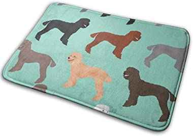 Poodles Cute Standard Poodle Dog Poodle Design Poodles Sweet Dog_28870 Doormat Entrance Mat Floor Mat Rug Indoor/Outdoor/Fron