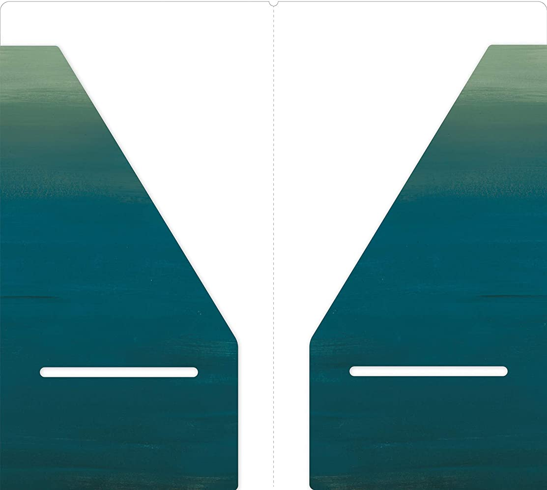 Echo Park Paper Company TNME1004 Mermaid Travelers Notebook Pocket Folder Insert Paper, Teal/Green/Blue/Aqua/Pink/Coral