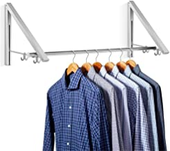 Aluminum Clothes Hanging System Wall Mounted Folding Clothes Hanger Retractable Easy Installation Home Storage Organizer(2...