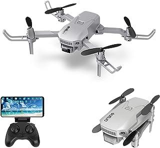 KKmoon Drone RC com câmera 4K Mini Drone Quadcóptero dobrável para crianças com função Trajetória Voo sem cabeça Modo 3D V...