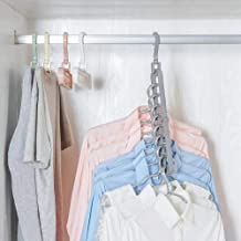 High quality Space Saving -port Clothing Hangers Wardrobe function Shirts Pants Coats Clothes Closet Hanger (Color : Color...