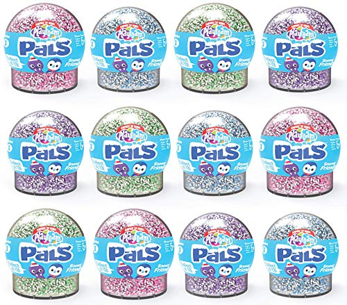 Learning Resources Snowy Friends 12-Pack Espuma de Juegos con figuritas de los Amigos Playfoam Pals Pet Party (Serie 3-Expositor para mostrador con 12 Unidades), Color (EI-1967)