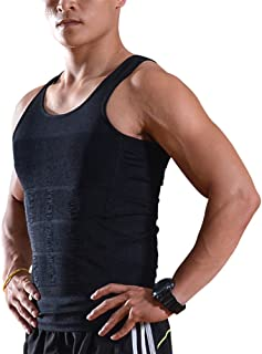 Slimming Body Shaper Vest, Elastic Lose Weight Exercising Tee Shirt Tank Top Shapewear for Men