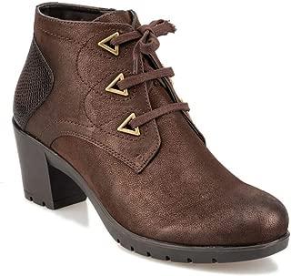 92.151132.Z Kahverengi Kadın Ökçeli Ayakkabı