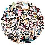 RGBEE One Direction Sticker 100 Stücke, Wasserfeste Vinyl Sticker Set für Laptop, Koffer, Helm, Motorrad, Skateboard, Snowboard, Auto, Fahrrad, Computer, Graffiti Aufkleber Decals