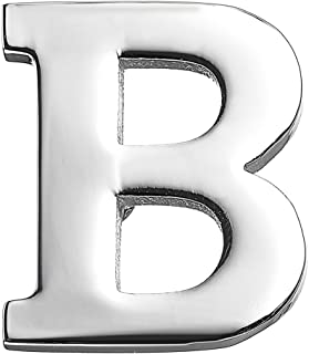 MISSU JEWELLRY Mens Business Letters Collar Brooch Pins 26 Alphabet Monogram Collar pin Suit Lapel Pin Badge for Husband