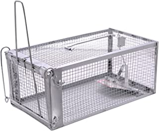 MATATA One-Door Live Animal Trap Humane Cage Trap for Rats Mouse Gopher Rodents Squirrels and Similar Sized Pests