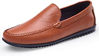 WYR-AU Man Driving Loafer Casual Leather Soft Sole Solid Color Business Bean Shoes Small Size36 Boat Moccasins