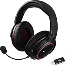 Infurture Wireless Gaming Headset 3D Bass Surround Sound for PC/PS4/PS5,Computer Headset with Detachable Noise Cancelling ...